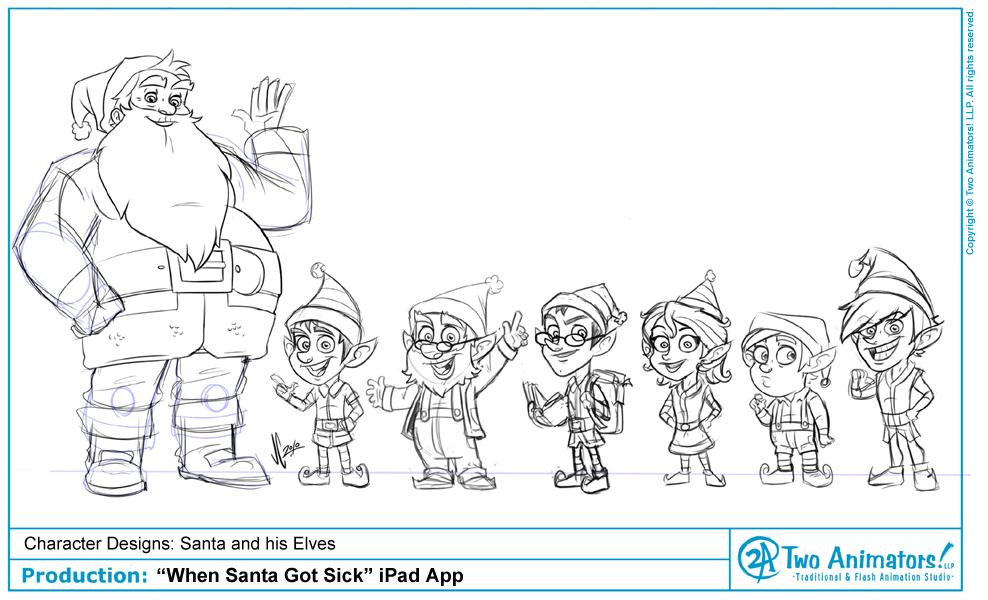 Good Character Design Apps : Two animators animation studio quot when santa got sick