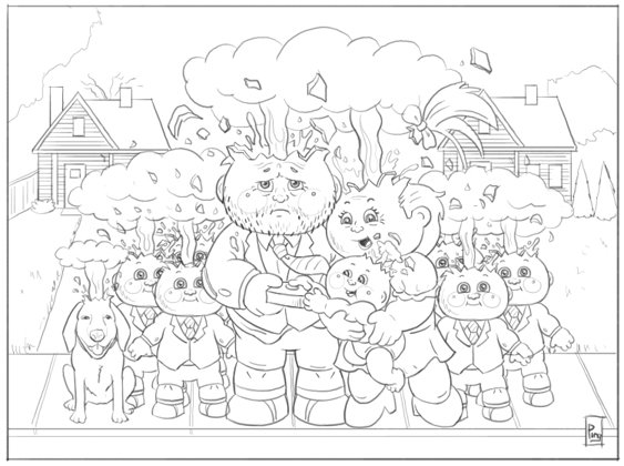 garbage pail kids coloring pages - photo#25