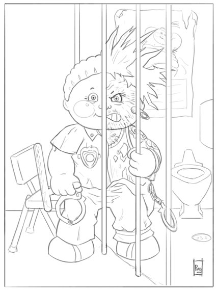 garbage pail kids coloring pages - photo#8