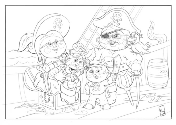 garbage pail kids coloring pages - photo#5