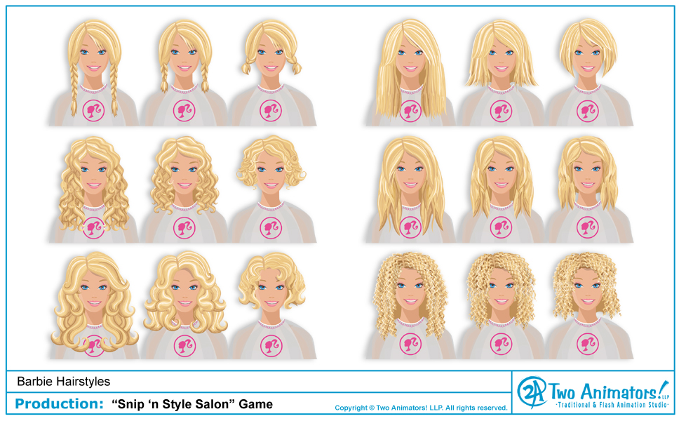 Hairstyle Games Try to work in our online beauty and hair salon.