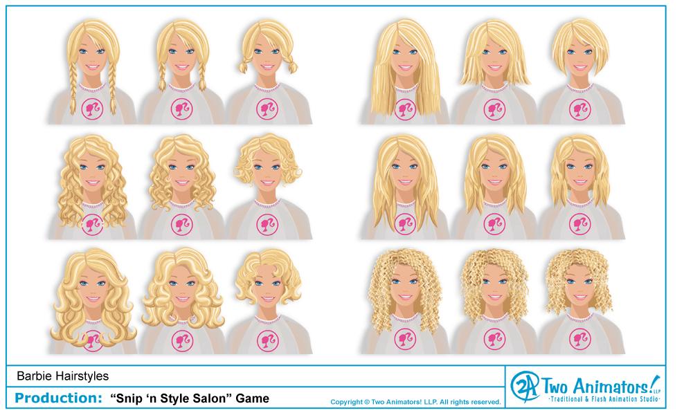 Fine Two Animators Animation Studio Blog Barbie39S New Hairstyles Short Hairstyles For Black Women Fulllsitofus